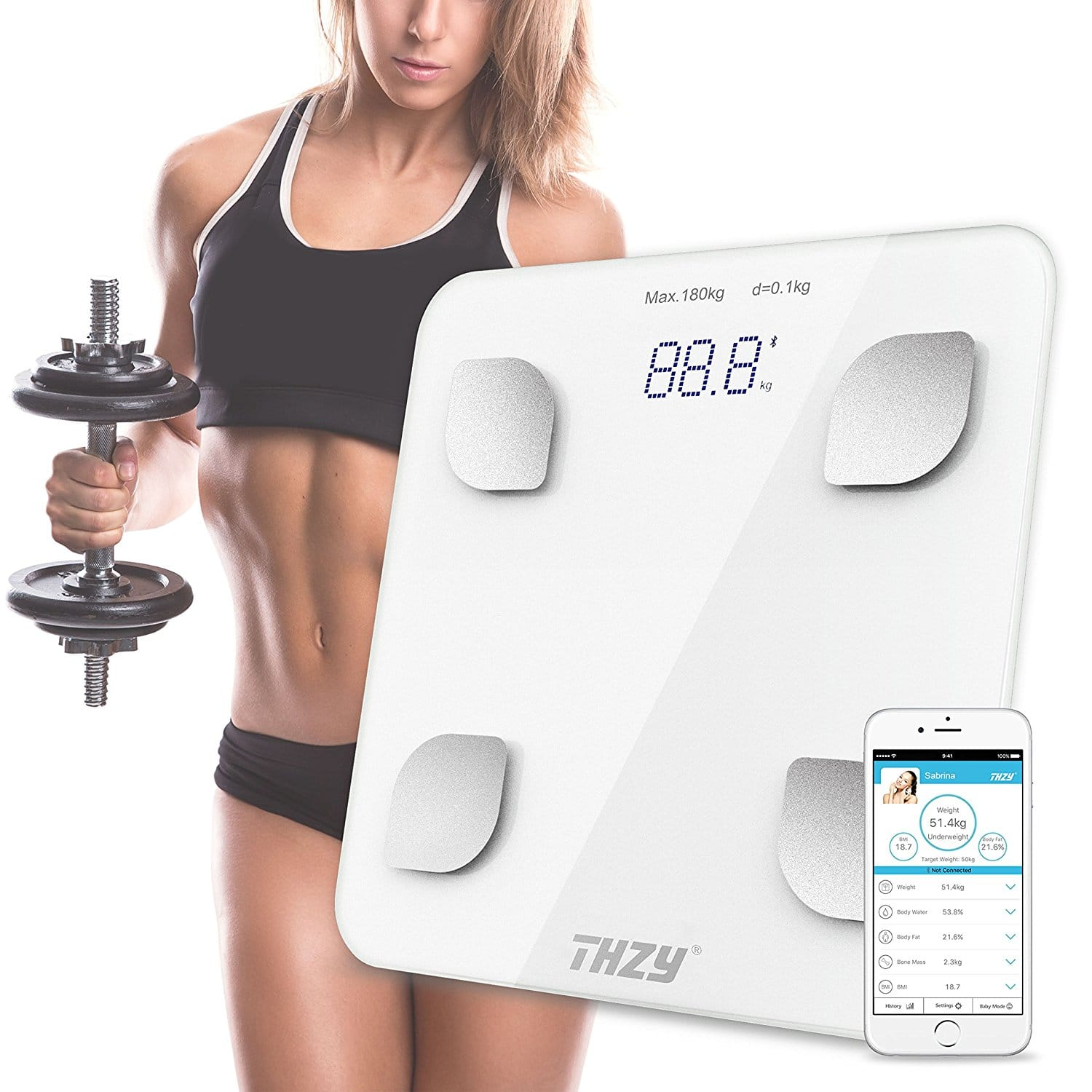 Bluetooth Multi-Functional Body Weight Scale for $22.19 (40% off)