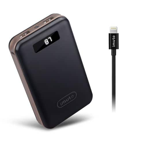 iMuto Portable Charger X4 20000mAh +MFI Lightning Cable + Free Shipping