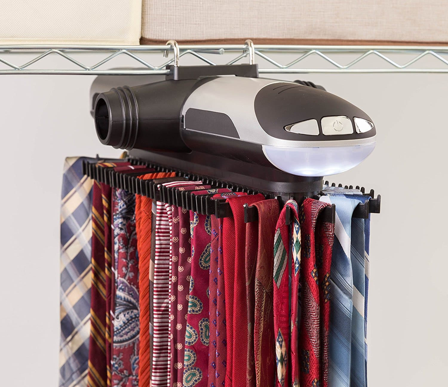 ClosetMate Motorized Tie Rack for $22.99