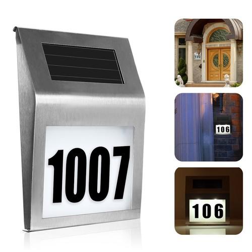 Solar Light House Number Address Sign for $8.99 (50% off)