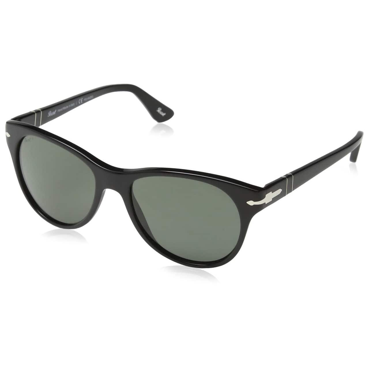 Persol PO3134S Sunglasses with Black Crystal Polarized Green Lens for $59.99 + Free Shipping