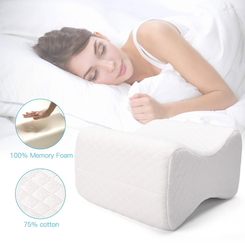 ULG Memory Foam Leg Pillow | Knee Wedge on Sale for $11.19