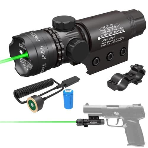 Feyachi Tactical Green Laser Sight 532nm with Picatinny Rail Mount Pack for $16.99
