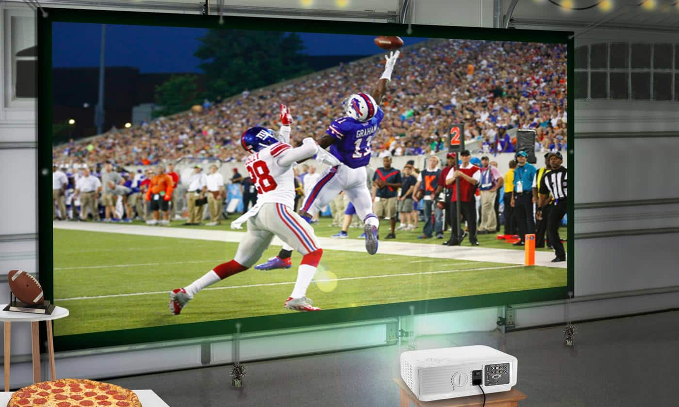 Superbowl Projector and Screen Package by Favi Entertainment for $169.99