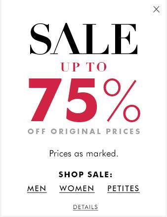 Banana Republic: Up to 75% Off Regular Priced Items + FS on $50+