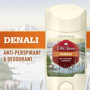 Old Spice Fresh Collection Invisible Solid Denali Scent Men's Anti-Perspirant & Deodorant 2.6 Oz (Pack of 4) For $10.09 After $1 Clip the Coupon @ Amazon