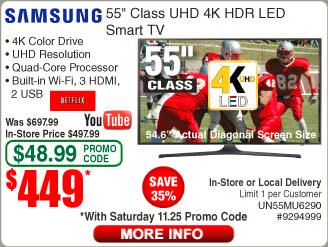 Samsung 55MU6290 $449