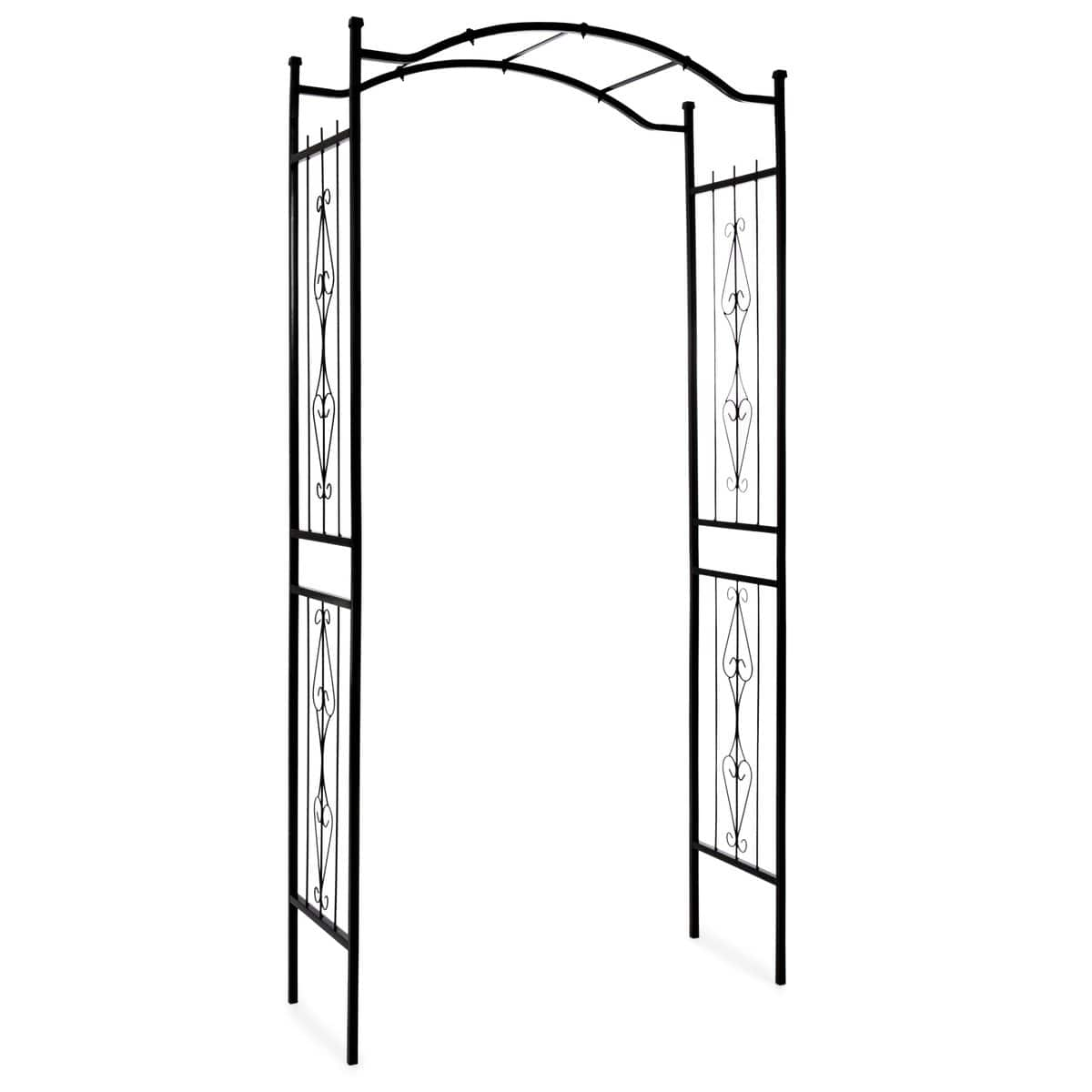 92in Steel Garden Arch Arbor with Free Shipping $64.99