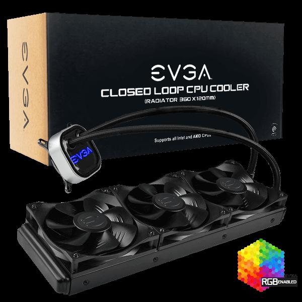 EVGA CLC 360mm All-In-One RGB LED CPU Liquid Cooler $99.99