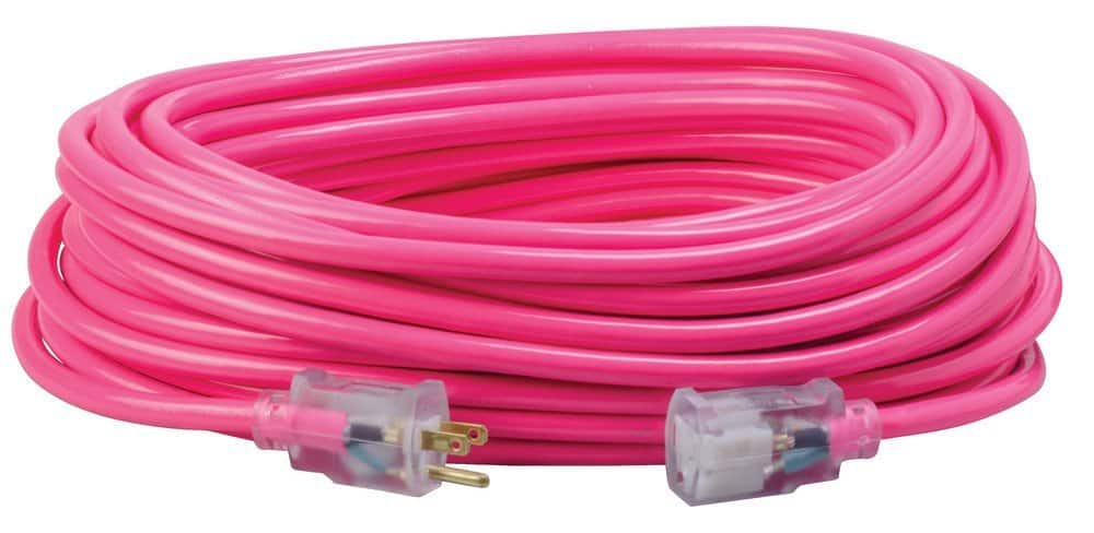 Coleman 100 feet extension cord 12/3 pink clearance Walmart $28.34