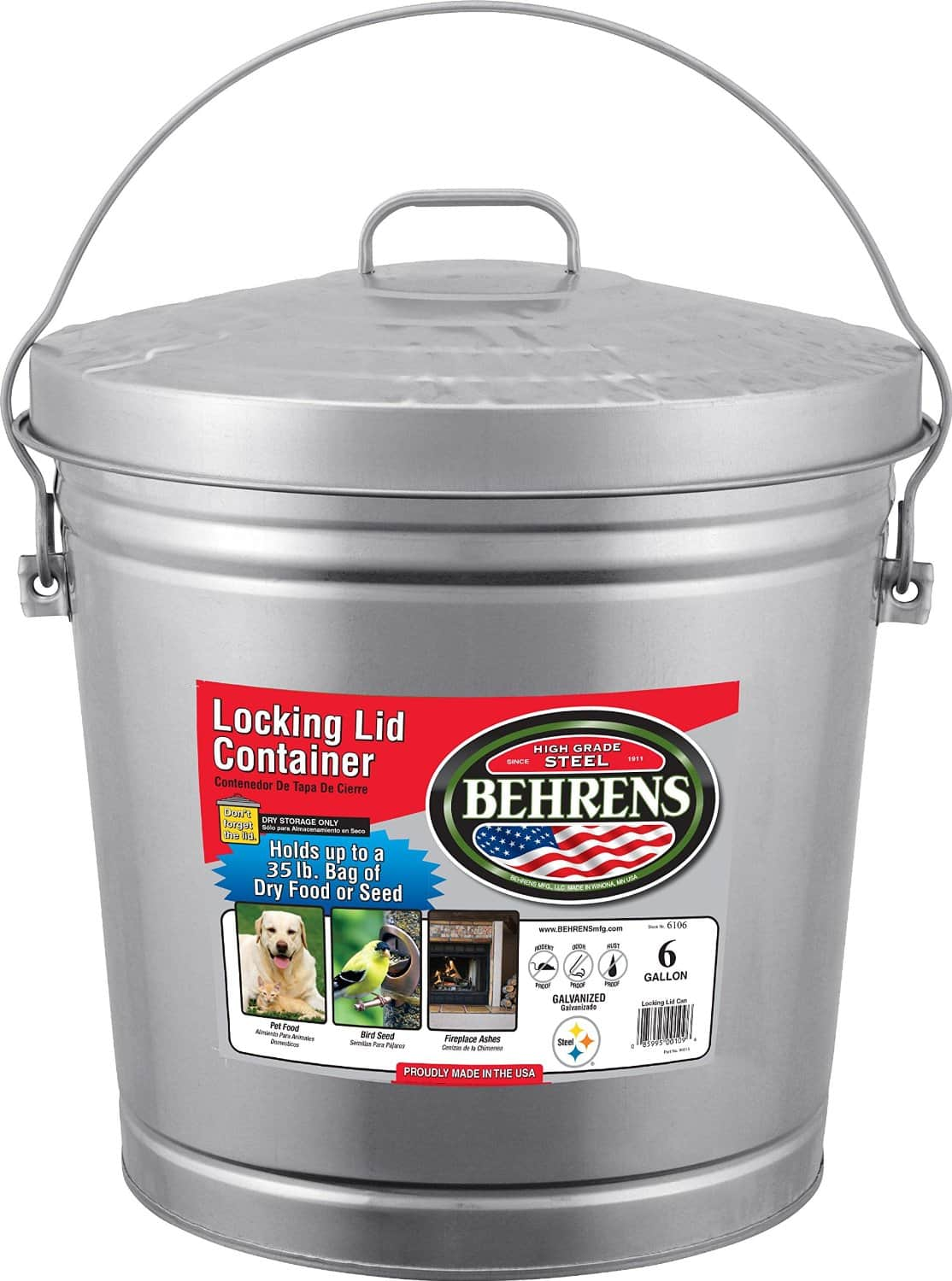 Behrens 6-Gallon Locking Lid Can$10.56 for Amazon Prime members