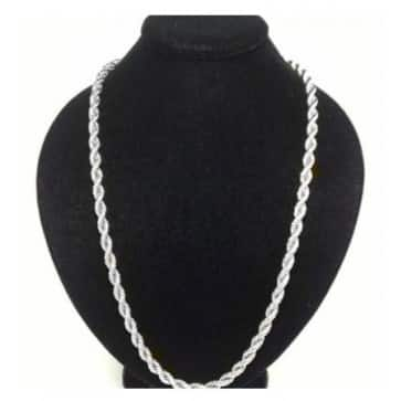 24 inch 18kt Gold Plated Over Stainless Steel Rope Chain For $4.99 + Free Shipping @ itechdeals.com