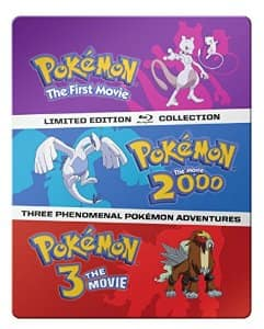 Pokémon: The Movies 1-3 Steelbook Blu-ray Collection For $21.99 @ Amazon