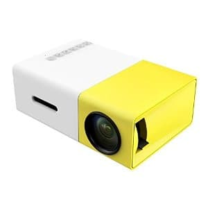 OEM A1 LED LCD Mini Video Projector - Intenational version White/yellow For $15 @ Amazon