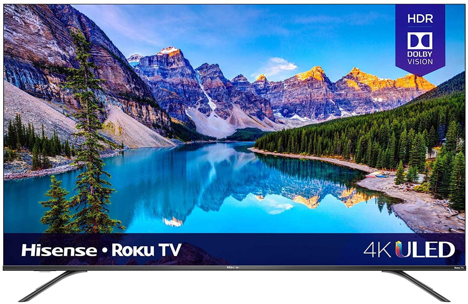$569.99 after $60 coupon Hisense 65-Inch Class R8 Series Dolby Vision & Atmos 4K ULED Roku Smart TV with Alexa Compatibility and Voice Remote