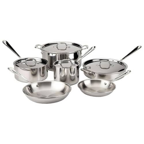 20% + 30% OFF All-Clad Sets; Stainless Steel 10-Piece Cookware Set $489.99