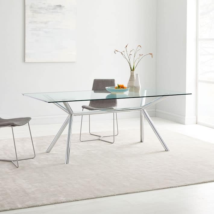 West Elm: Chrome Trestle Dining Table 75% off $199.99