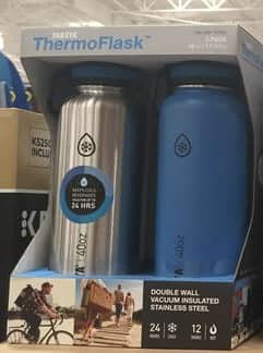2x Takeya Thermoflask Insulated Stainless Steel Water Bottle, 40 oz, Steel $29.99 @ Costco.com & B&M