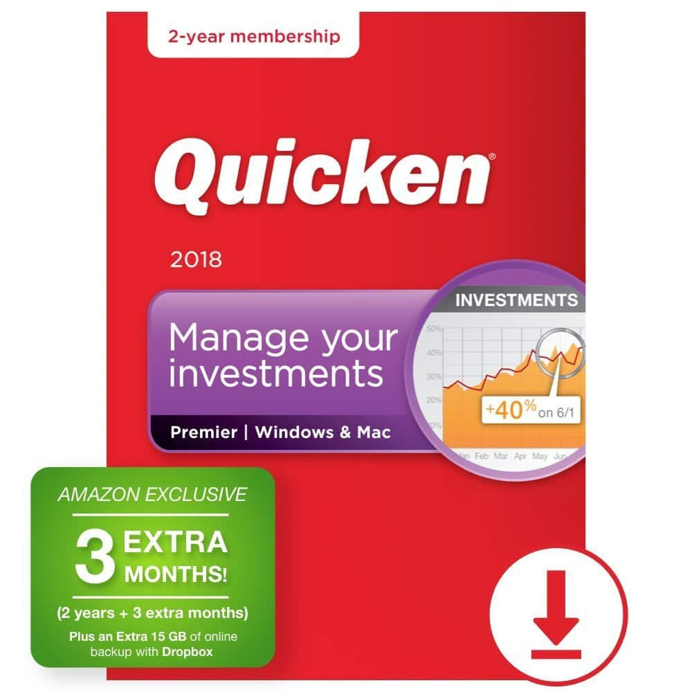 Quicken Premier 2018 – 27-Month Personal Finance & Budgeting Software [PC/Mac Download] - $77.99 @ Amazon