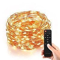 Homestarry HS-SL-010 Dimmable String Lights Pro 40 Ft 240 LEDs Copper Wire with Remote Control 12V Power Adapter Warm White $  20.5 AC @AMAZON