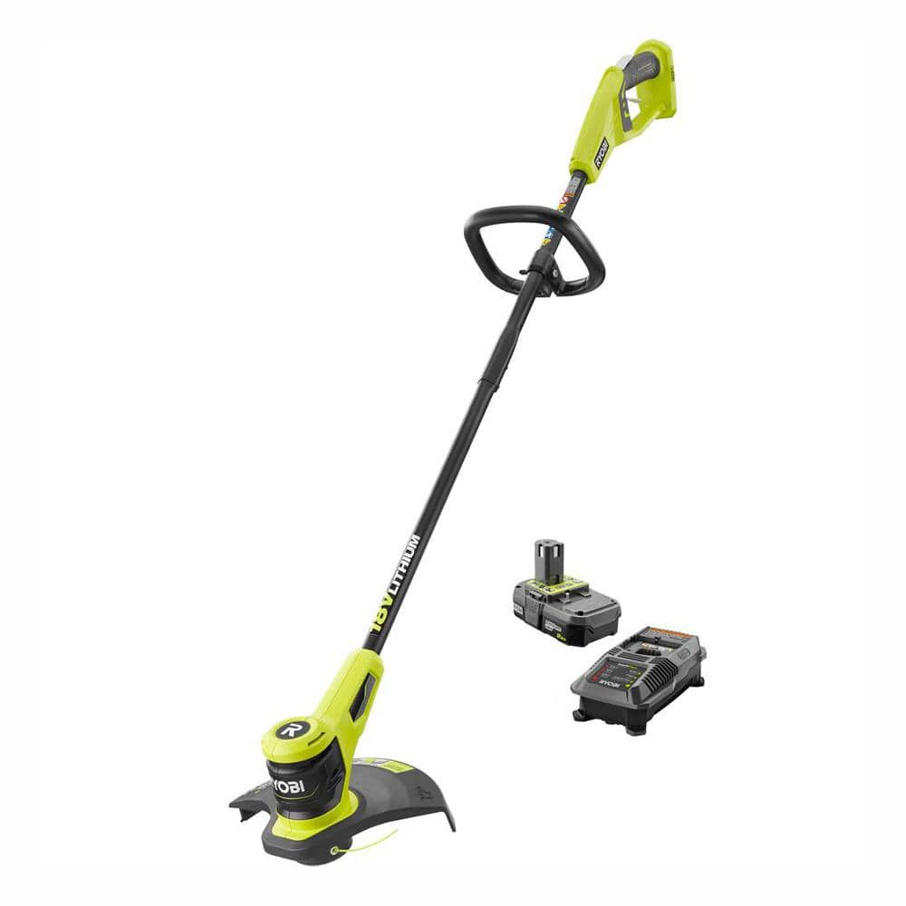 ONE+ 18-Volt Lithium-Ion Electric Cordless String Trimmer 2.0 Ah Battery and Charger Included $69.96