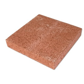 Red Concrete Patio Stone (Common: 12-in x; Actual: 11.6-in x 11.6-in)  for $1 at Lowes
