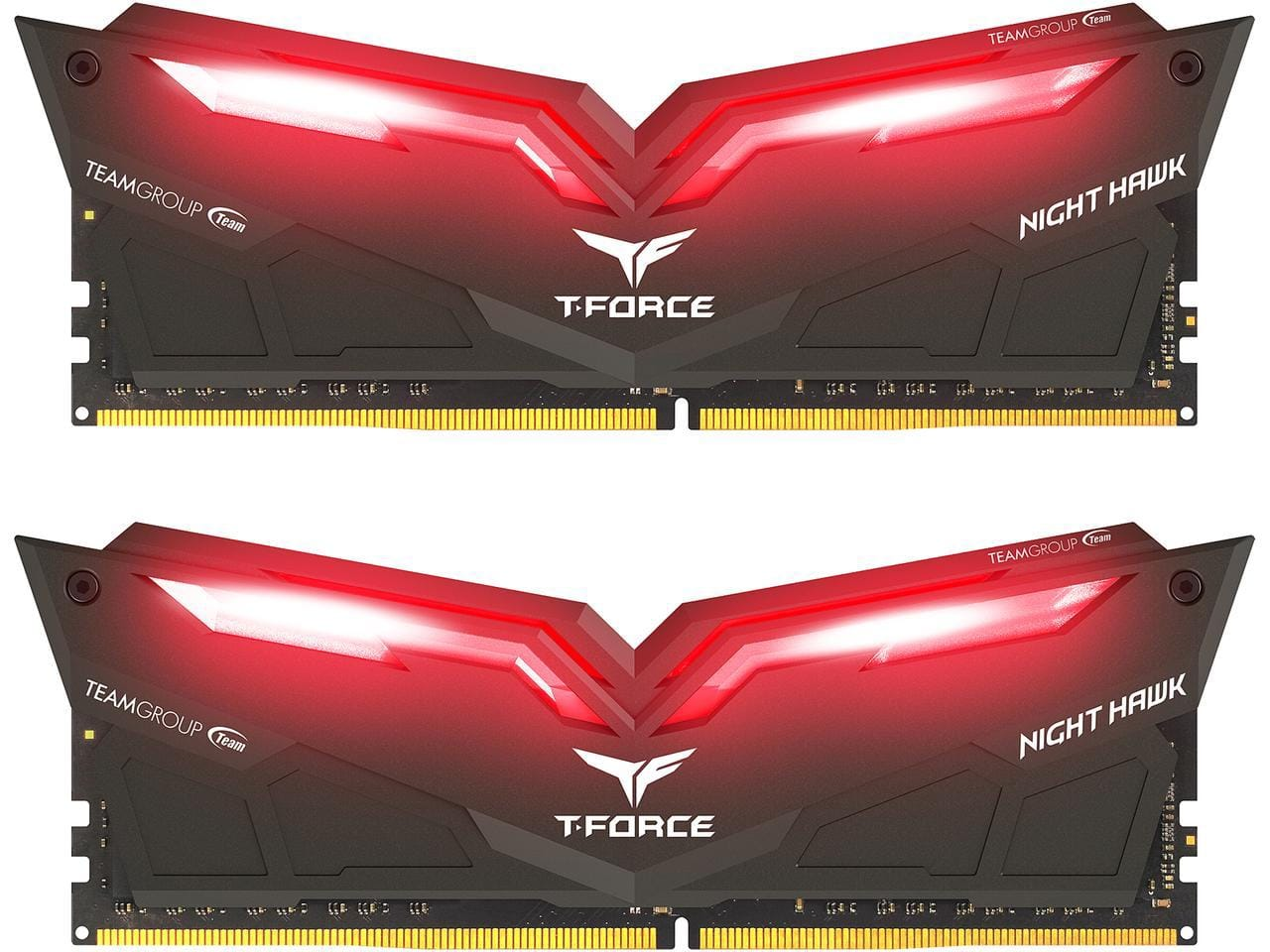 $102.99 - Team T-Force Night Hawk 16GB (2 x 8GB) 288-Pin DDR4 3000 (PC4 24000) LED Lit Desktop Memory - AMD RYZEN Compatible