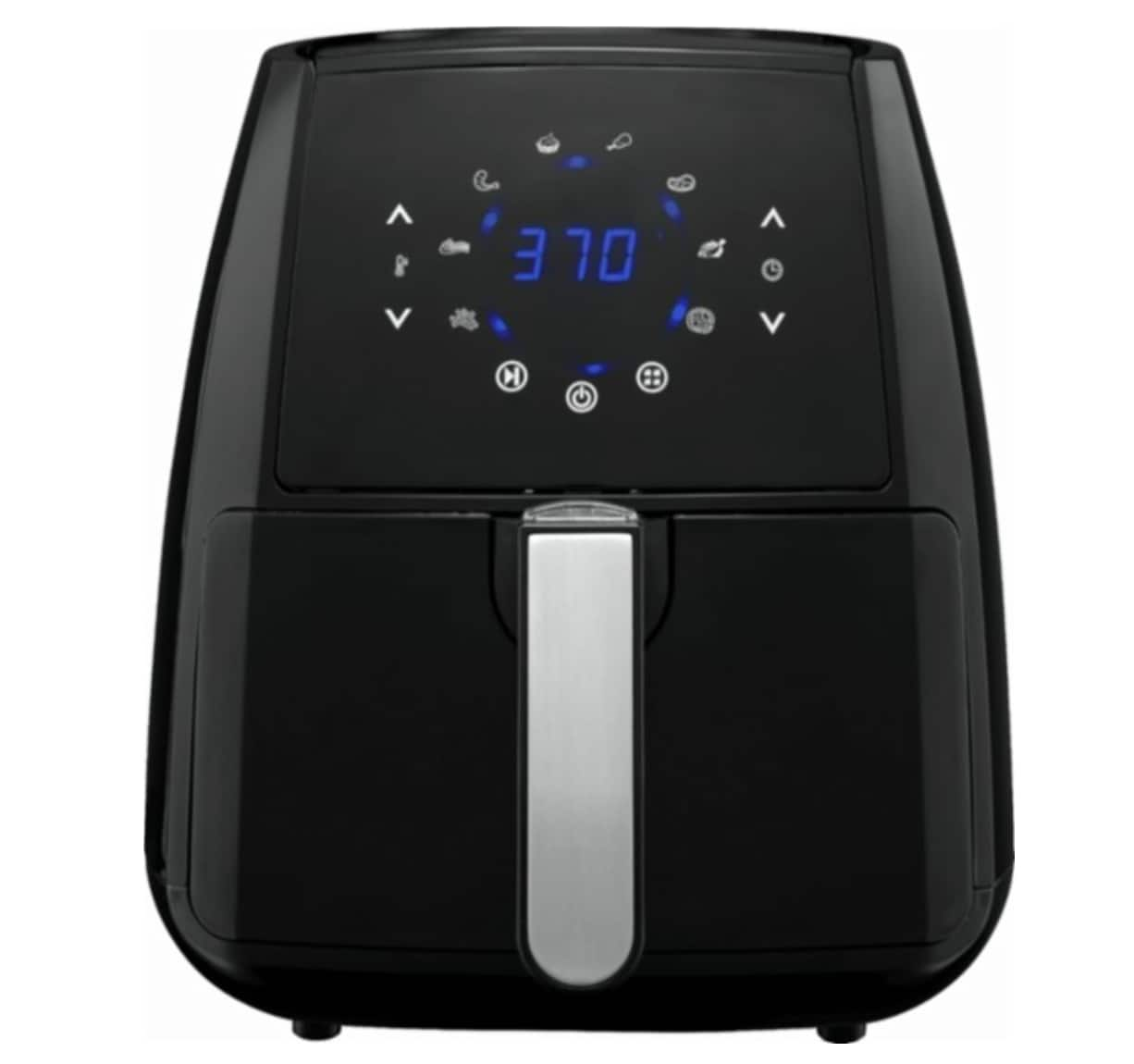 Gourmia - 4.5Qt Hot Air Fryer - Black/Silver (today only) $59.99