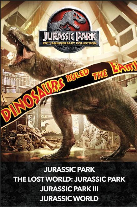 Jurassic Park Collection 4K UHD iTunes Digital (4 Films) - $24.99