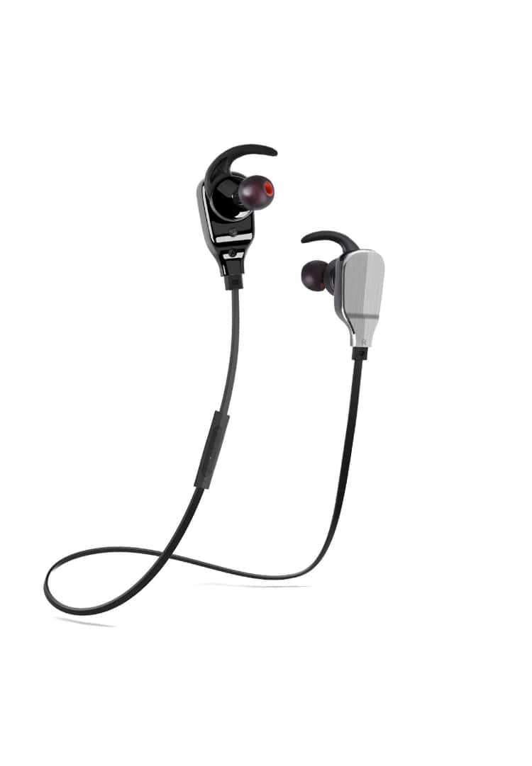 Bluetooth Headphones, TUPELO Bass Csr4.1 Wireless Sweatproof Sports Earphones aptX In Ear Stereo Earbuds with Mic for iPhone 8 / 7 / 6 / 5 / plus Samsung LG Android - Black $12.99