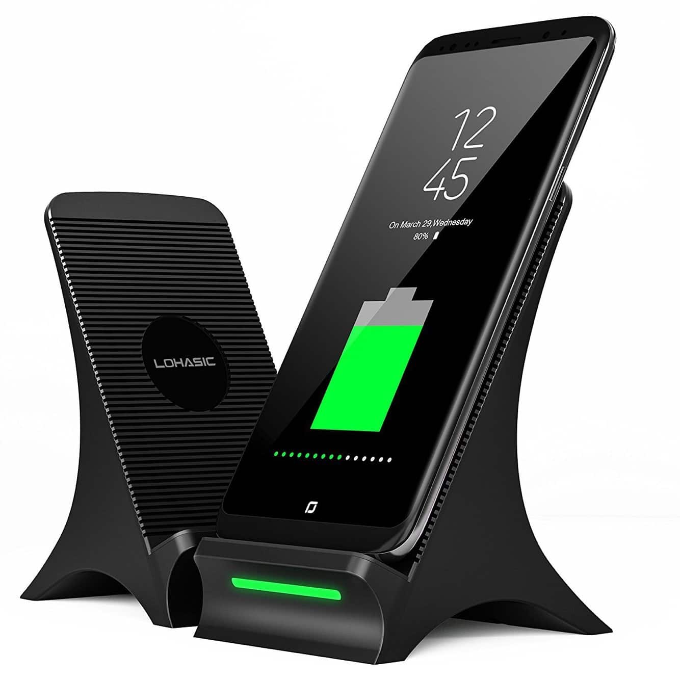 Wireless Charger with Cooling Fan Stand Pad for iPhone Samsung and All Qi Enabled Devices from $16.71