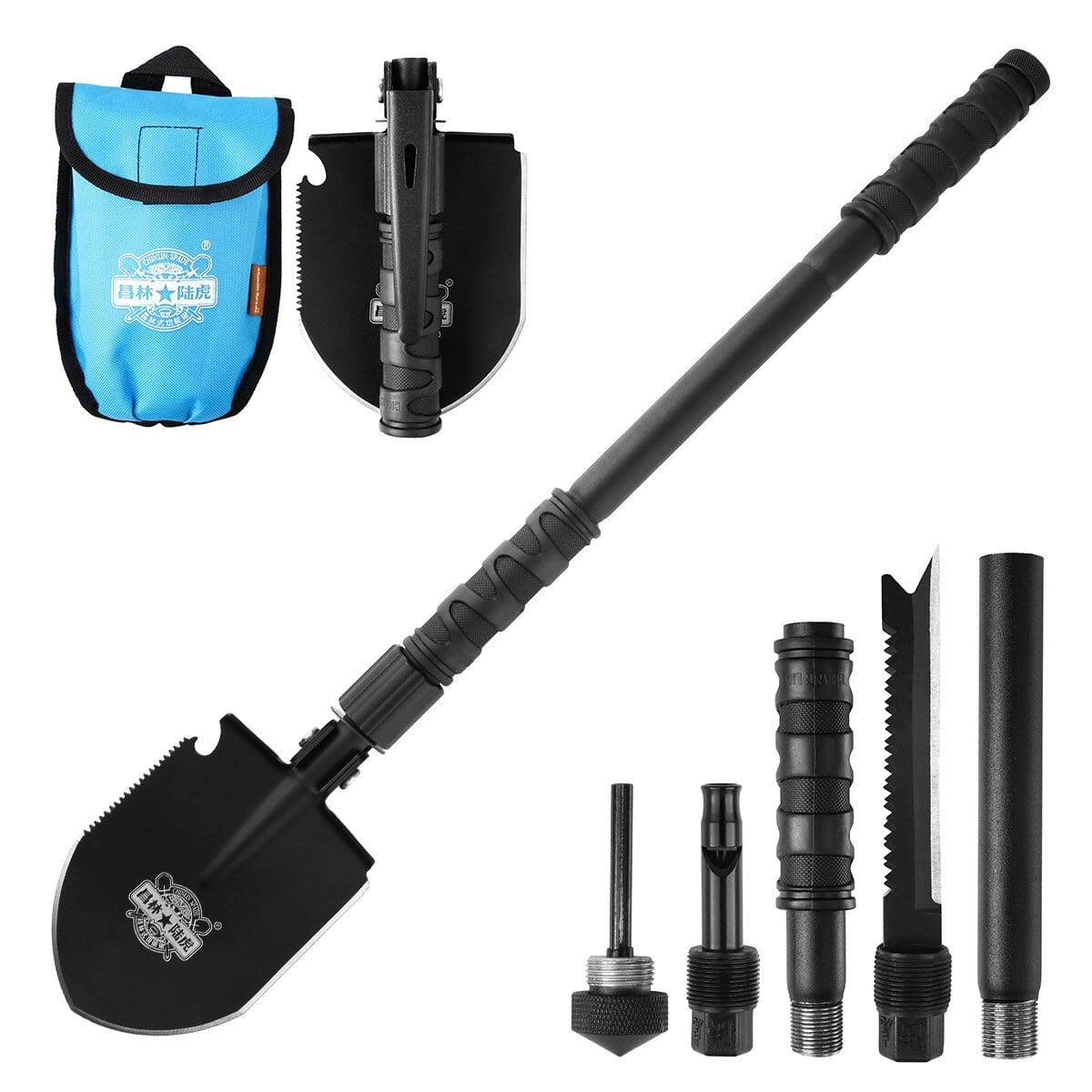 Entrenching Tool Snow Shovel Emergency Hammer Kit Portable Heavy Duty Survival Gear $18.19