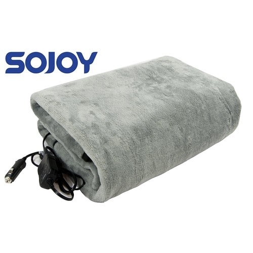 Clearance Sale! Only $29.89 for Sojoy 12V Heated Travel Electric Blanket, No code required