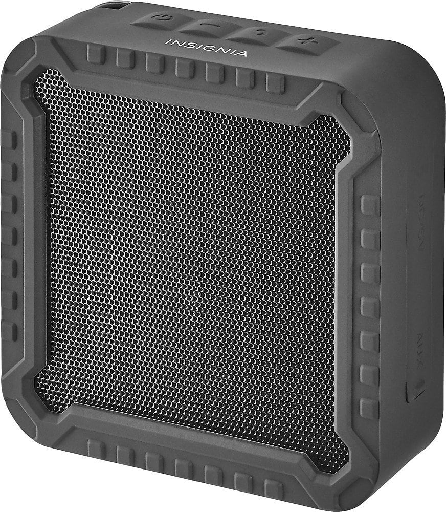 Insignia™ - Rugged Portable Bluetooth Speaker - Black $8.99