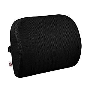 LoveHome Lumbar Support Back Cushion For Office Chair With 3-way Fixation Strap - Black $10.99 AC