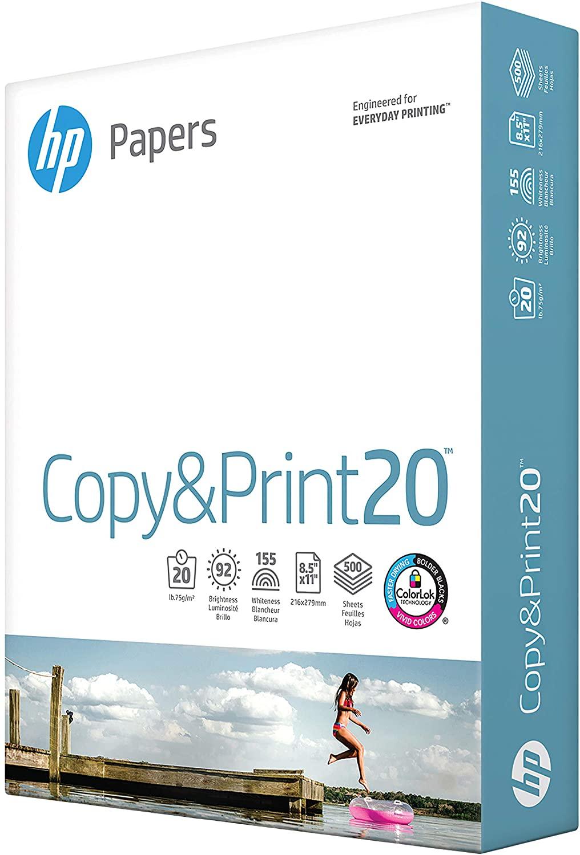 HP Copy & Print 8.5 x 11 Multipurpose Paper, 20 lbs., 92 Brightness, 750 Sheets/Ream