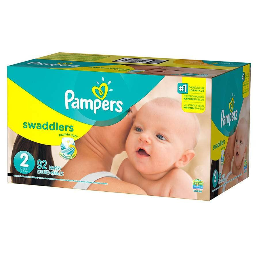 92-Pack of Pampers Swaddlers $2.39 YMMV B&M