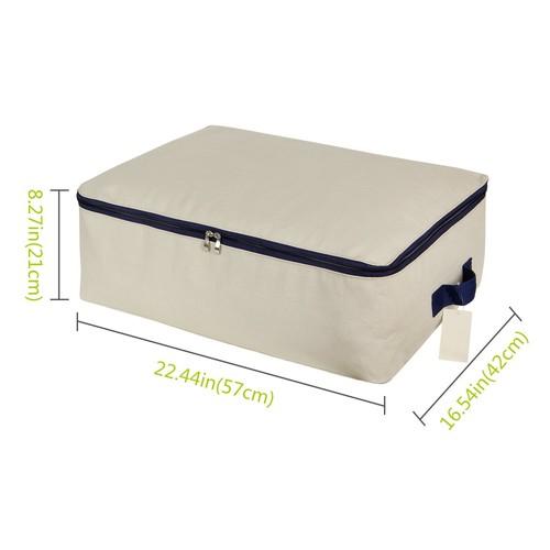 Lifewit Cotton Canvas Foldable Under Bed Storage Bags $10.49