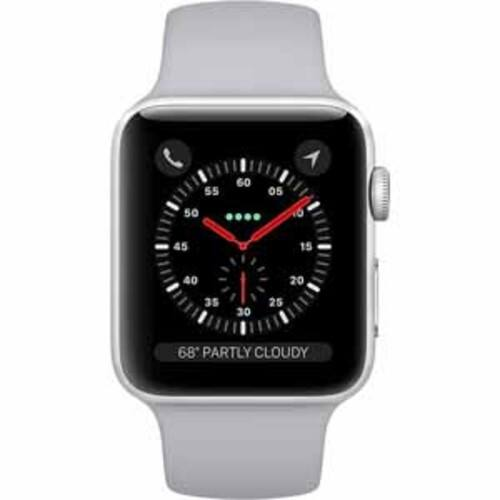 Apple Watch Series 3 GPS + Cellular 42mm Silver Aluminum Case with Fog Sport Band $409.99