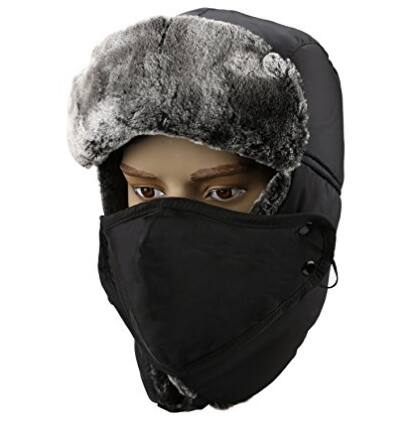 Unisex Winter Trooper Trapper Hat Hunting Hat Ushanka Ear Flap Chin Strap and Windproof Mask $9.99 + Free shipping @Amazon.com