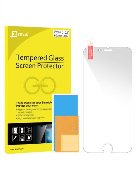 Premium Tempered Glass Screen Protector for Apple iPhone 6s Plus/6 Plus $2.99+FS w/prime@Amazon.