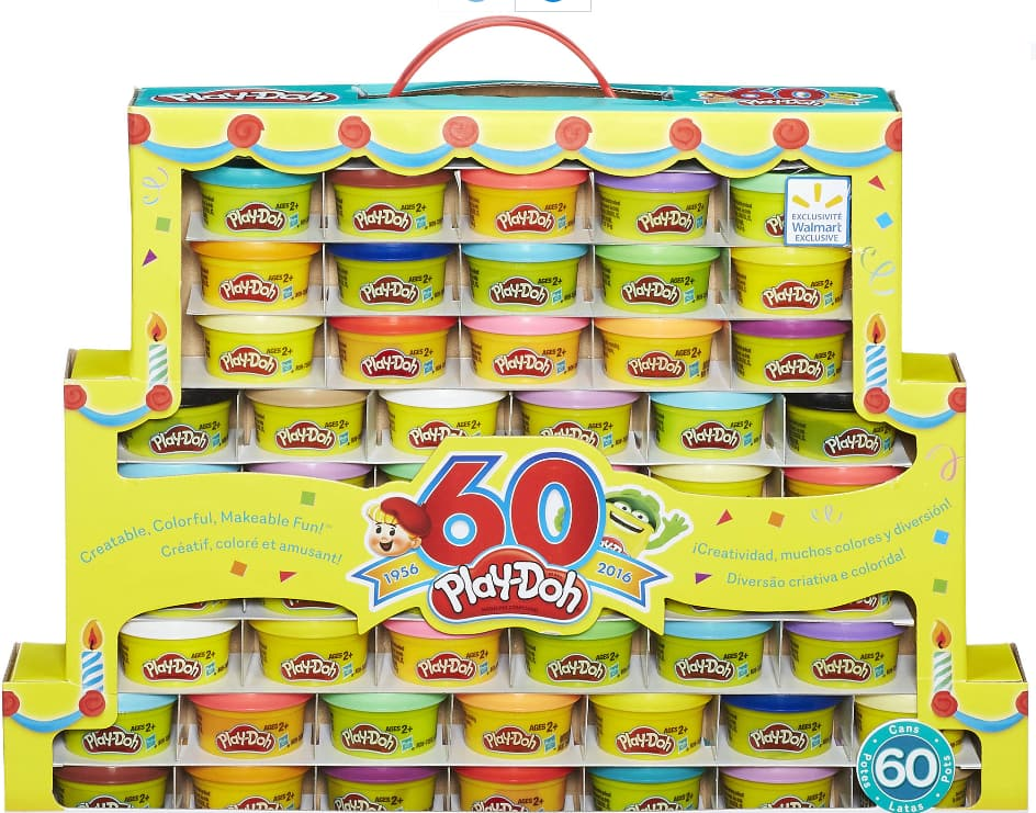 Play-Doh 60th Anniversary Celebration 60 Pack. $9. YMMV