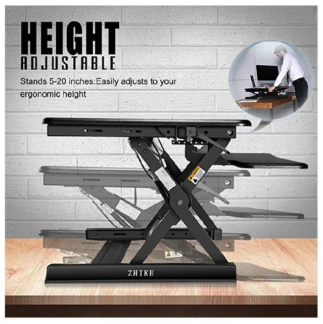 35 Inch Wide Adjule Standing Desk Computer Workstation For 175 99 Ac And Fs