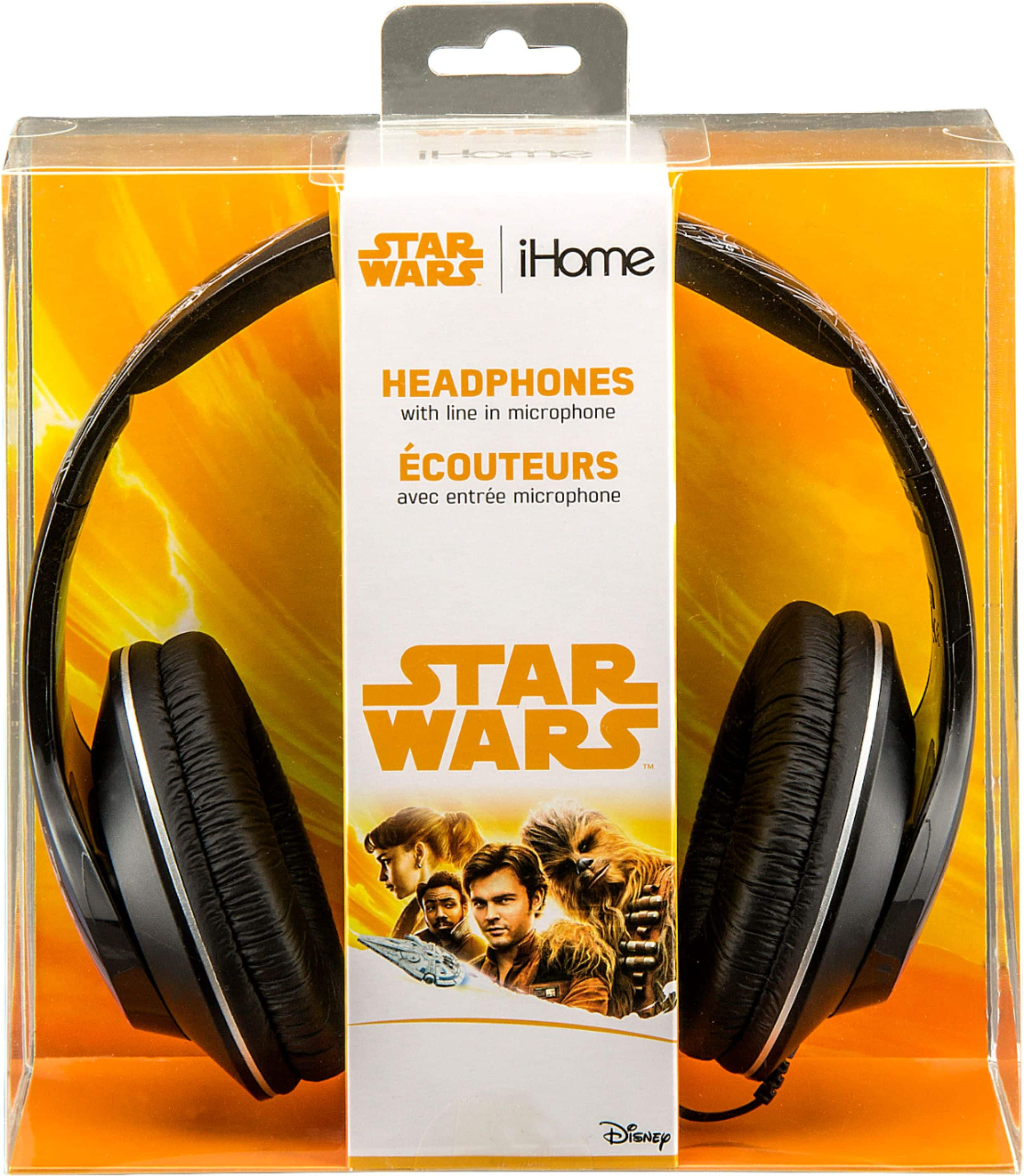eKids - Star Wars Millenium Falcon Wired Over-the-Ear Headphones - Black $9.99