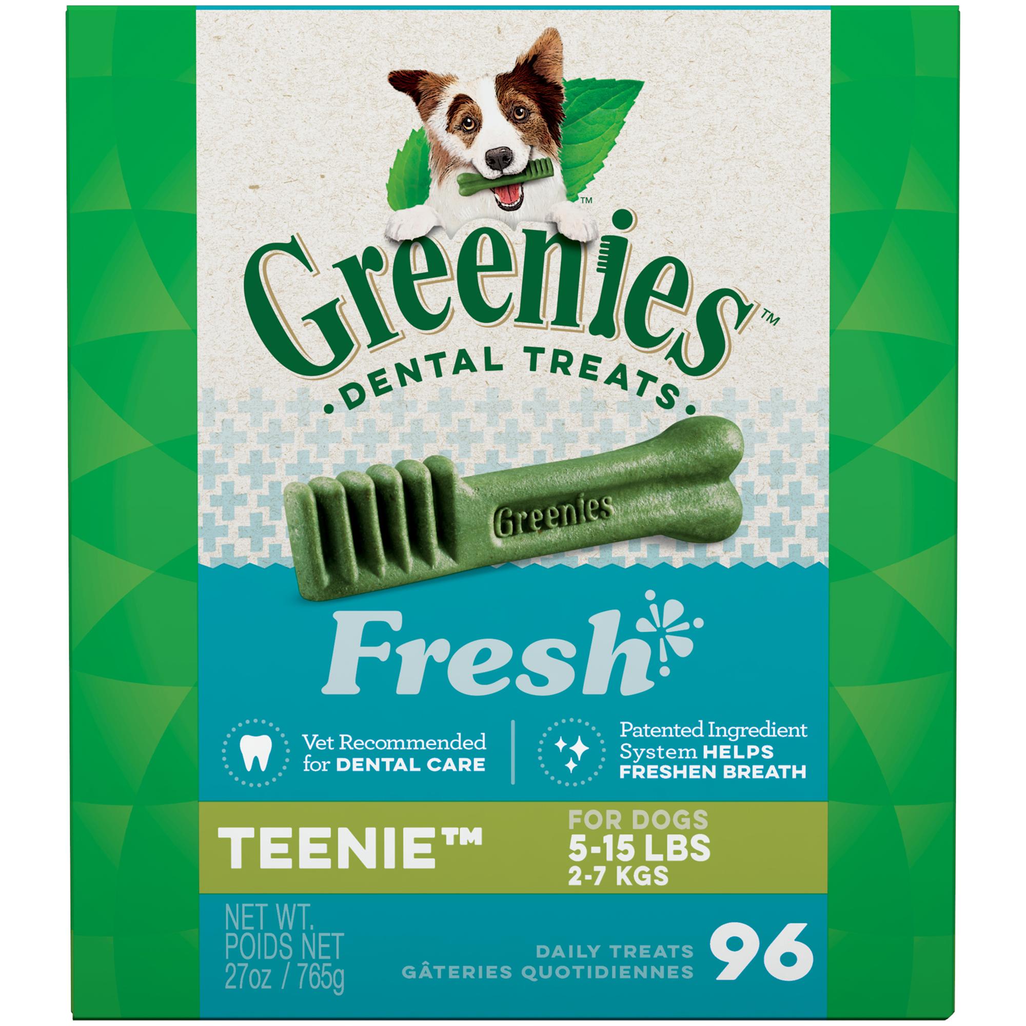 Greenies Teenie Natural Dental Dog Treats Fresh Flavor, 27 oz. Pack (96 Count) $14.14