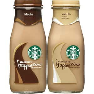 Amazon Prime Deal: Starbucks Frappuccino, Mocha and Vanilla Flavors, 9.5 Ounce Glass Bottles (Pack of 15) $16.20 + FS