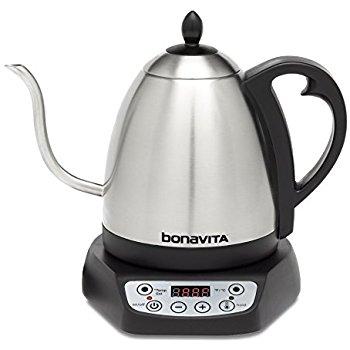 Bonavita BV382510V Electric Kettle, Gooseneck Variable Temperature, 1.0L $64.99 FS with prime