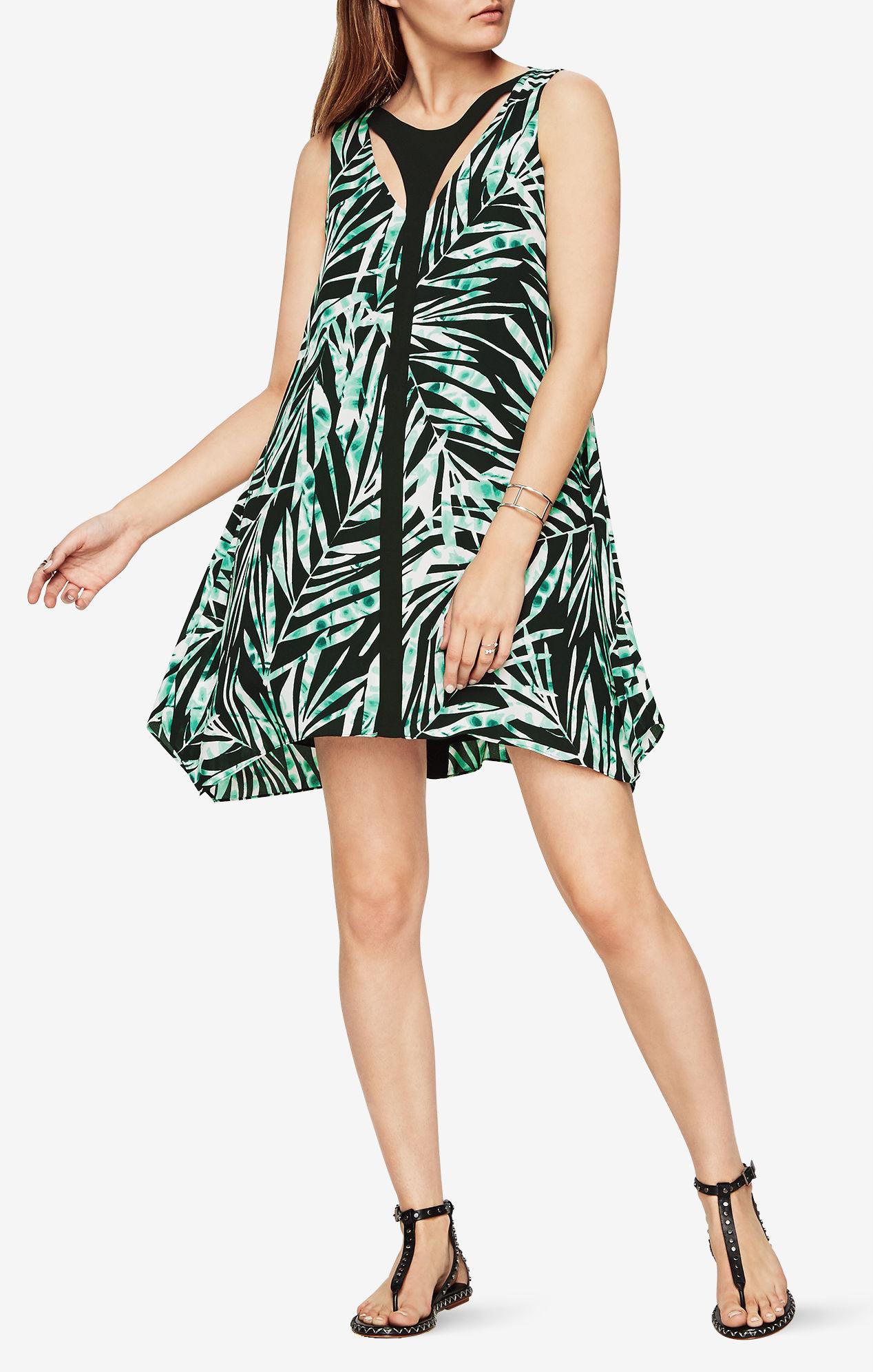 Amelia Palms-Print Dress for $48.99 @BCBG