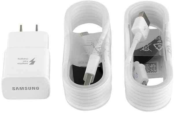 OEM Authentic Samsung Fast Adaptive Charger with 2 Micro USB Cables for $9.99 @groupon