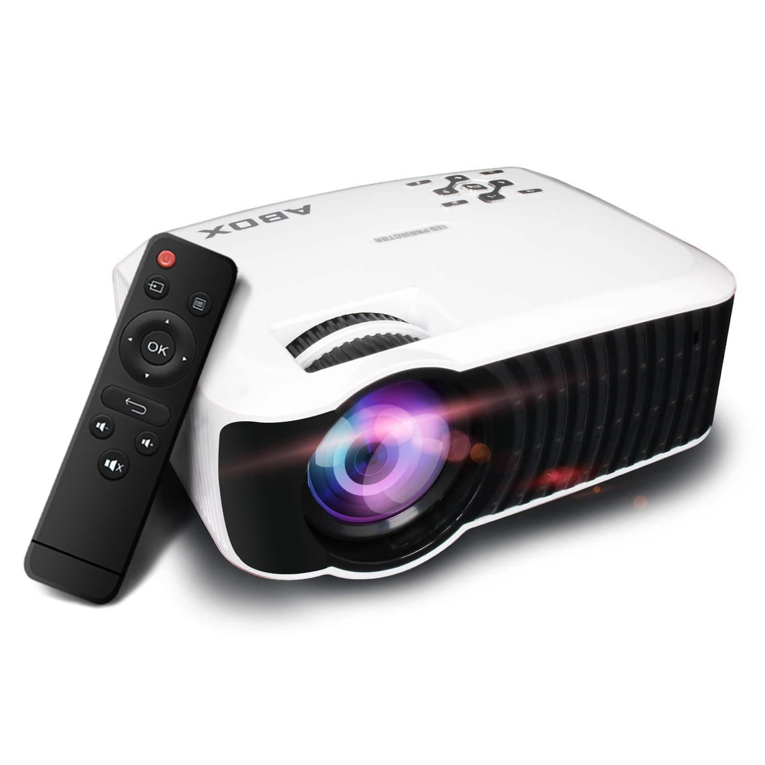 ABOX 2400 Lumens LCD Video Projector for $99.39 @amazon